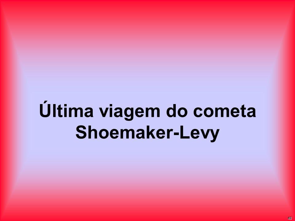 Última viagem do cometa Shoemaker-Levy 45