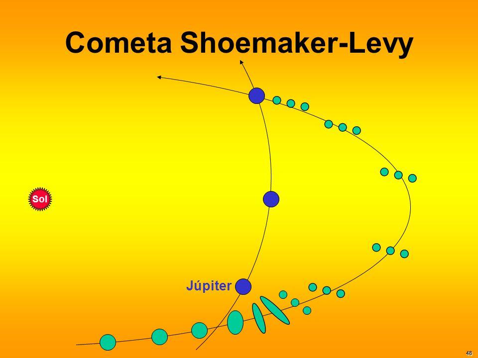 Cometa Shoemaker-Levy Sol Júpiter 48