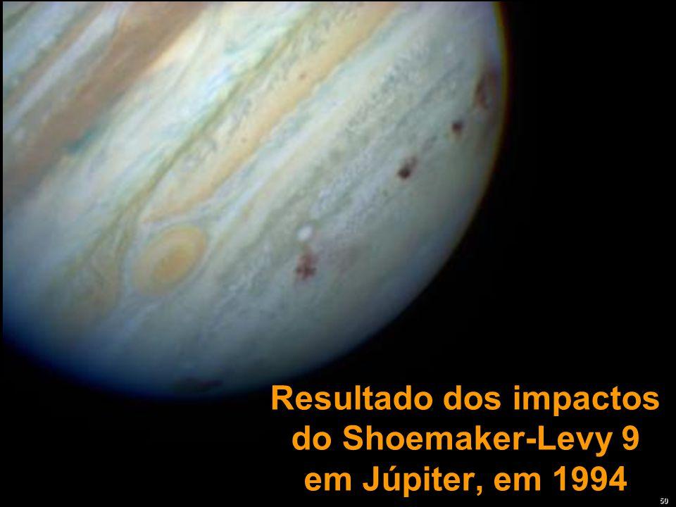Resultado dos impactos do Shoemaker-Levy 9 em Júpiter, em 1994 50