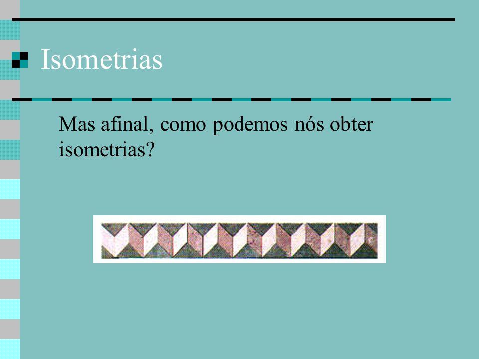 Isometrias Mas afinal, como podemos nós obter isometrias?