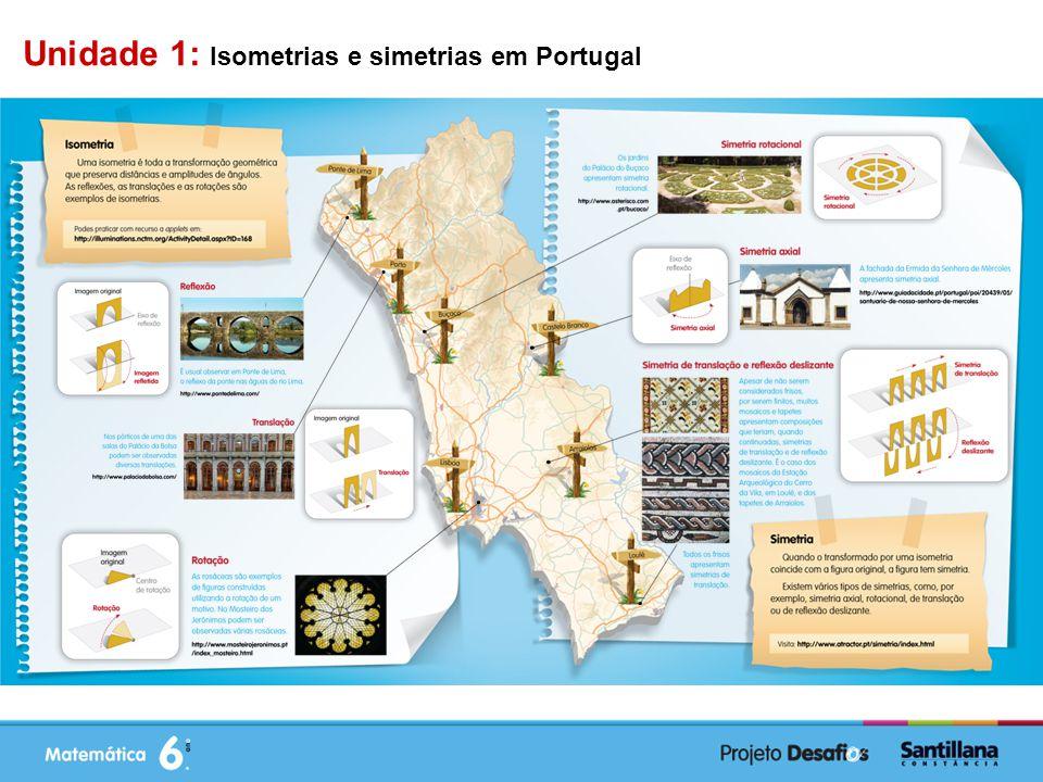Unidade 1: Isometrias e simetrias em Portugal
