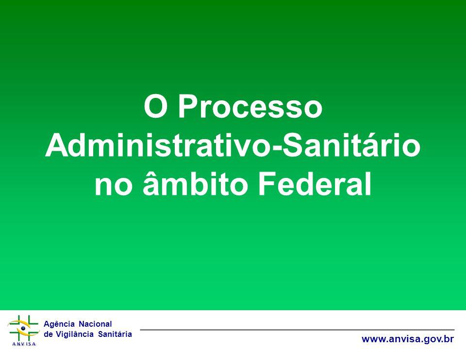 Agência Nacional de Vigilância Sanitária www.anvisa.gov.br O Processo Administrativo-Sanitário no âmbito Federal