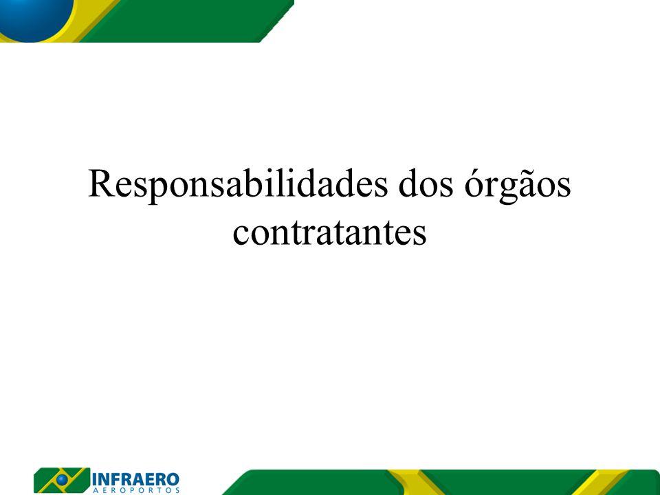Responsabilidades dos órgãos contratantes