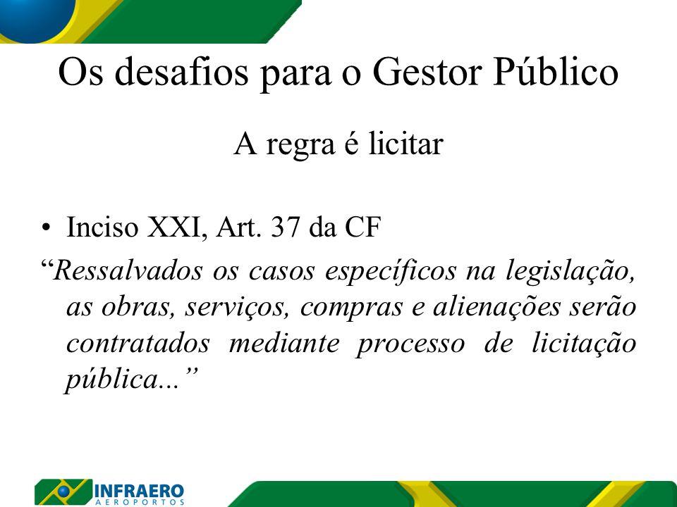 Regulamento de Licitações e Contratos da Infraero - RLCI PORTARIA NORMATIVA Nº 357/MD, de 5 de março de 2010; Disponível para o público interno e externo; Disciplina os procedimentos licitatórios e de contratos da Infraero;