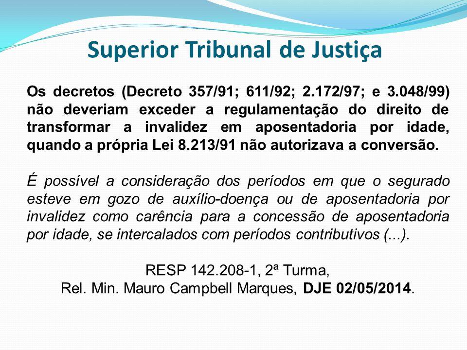 Superior Tribunal de Justiça Os decretos (Decreto 357/91; 611/92; 2.172/97; e 3.048/99) não deveriam exceder a regulamentação do direito de transforma