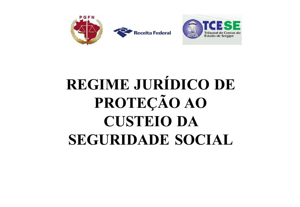 REGIME JURÍDICO DE PROTEÇÃO AO CUSTEIO DA SEGURIDADE SOCIAL