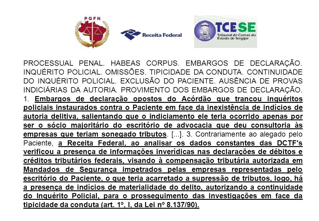 PROCESSUAL PENAL.HABEAS CORPUS. EMBARGOS DE DECLARAÇÃO.