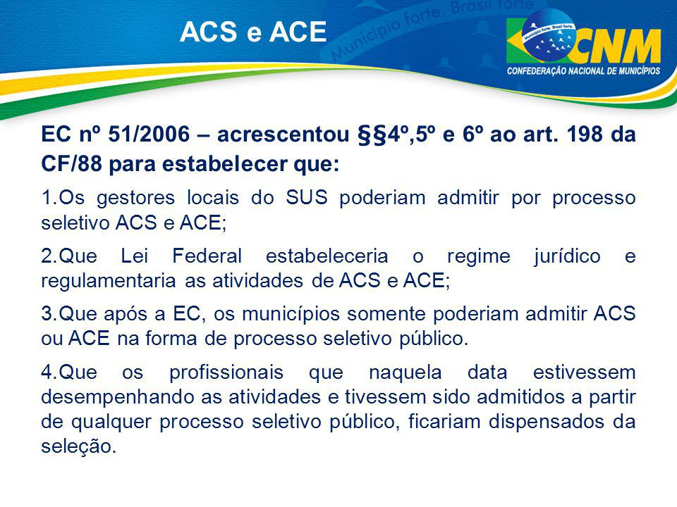 ACS e ACE Lei nº 11.350/2006 - Cov.