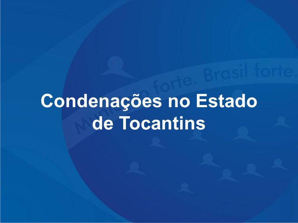 Condenações no Estado de Tocantins