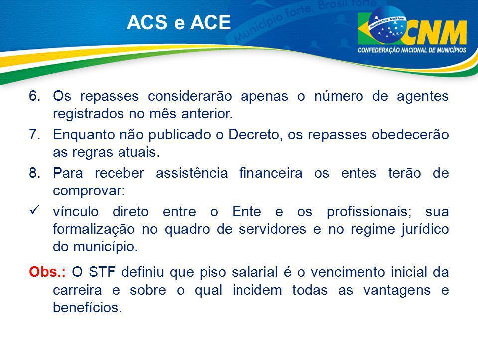 9.Os recursos serão repassados pela FUNASA aos Fundos Municipais de Saúde na condição de transferências correntes, regulares, automáticas e obrigatórias.