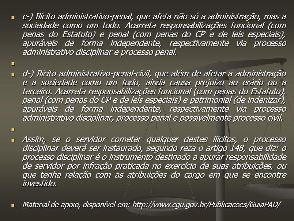 c-) Ilícito administrativo-penal, que afeta não só a administração, mas a sociedade como um todo.