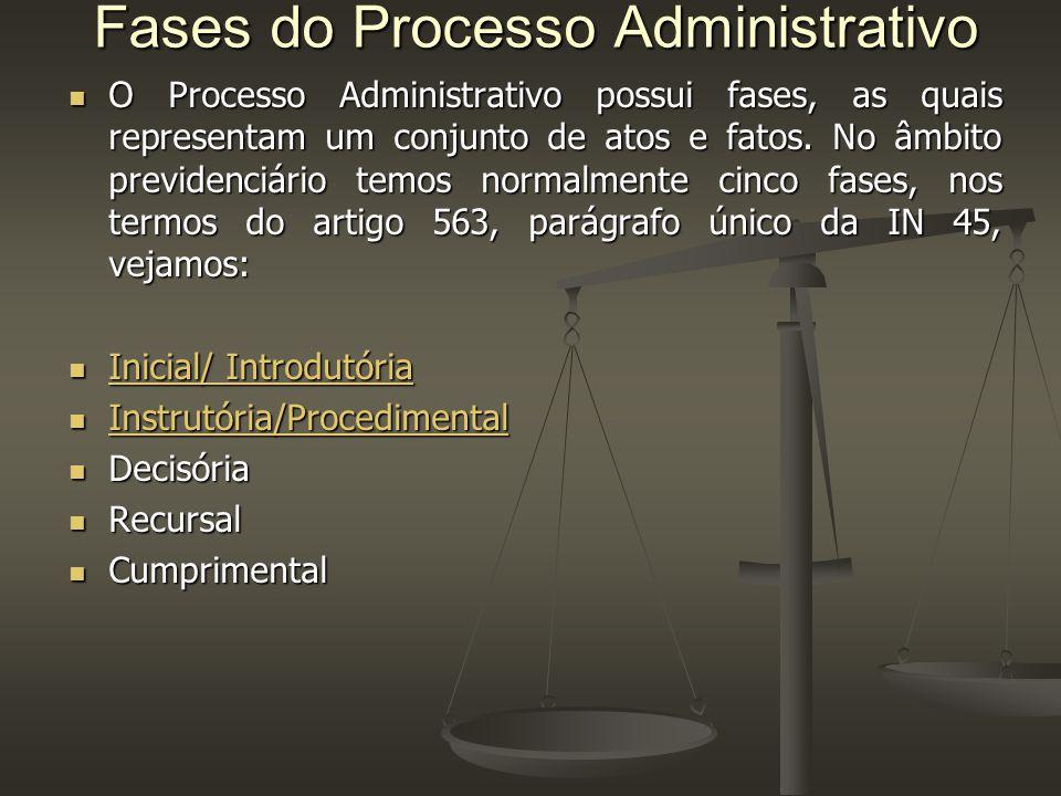 Fases do Processo Administrativo O Processo Administrativo possui fases, as quais representam um conjunto de atos e fatos.