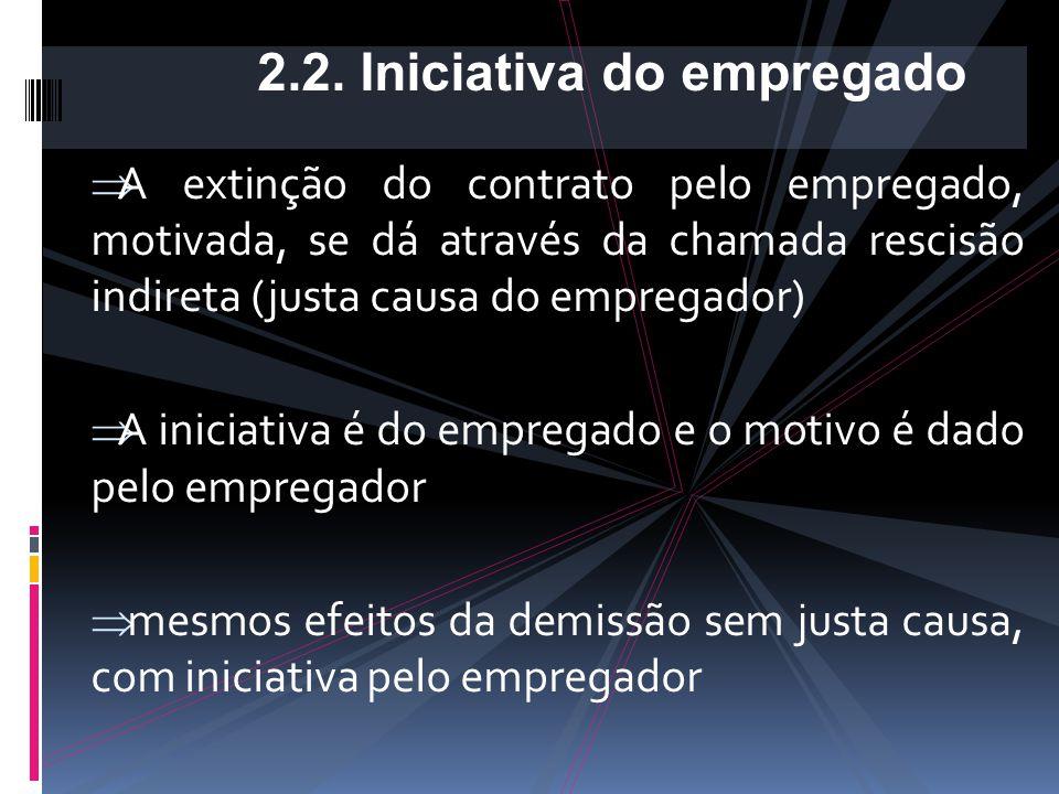 - Perda do direito ao aviso prévio (artigo 487 CLT) - Perda das férias proporcionais (artigo 146, e artigo 147, § único CLT); - Perda do 13º salário p