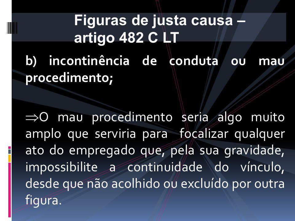 Conforme Valentim Carrion  verbas devidas como demissão sem justa causa, exceto multa de 40% do F.G.T.S.