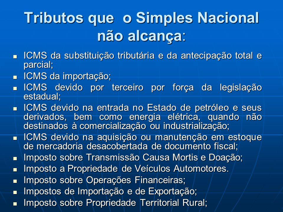 ICMS da substituição tributária e da antecipação total e parcial; ICMS da substituição tributária e da antecipação total e parcial; ICMS da importação