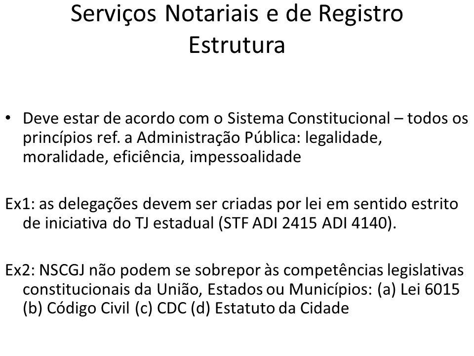 Serviços Notariais e de Registro e CorregedoriaS Corregedor Permanente : todo e cada Registrador e Tabelião é fiscalizado por um Juiz com essa função, da sua comarca.