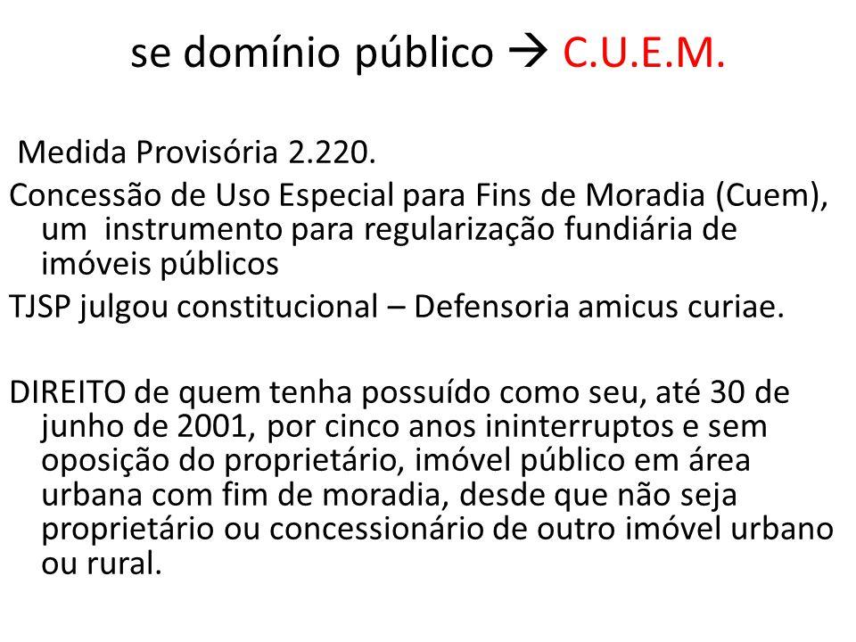 se domínio público  CUEM Art.