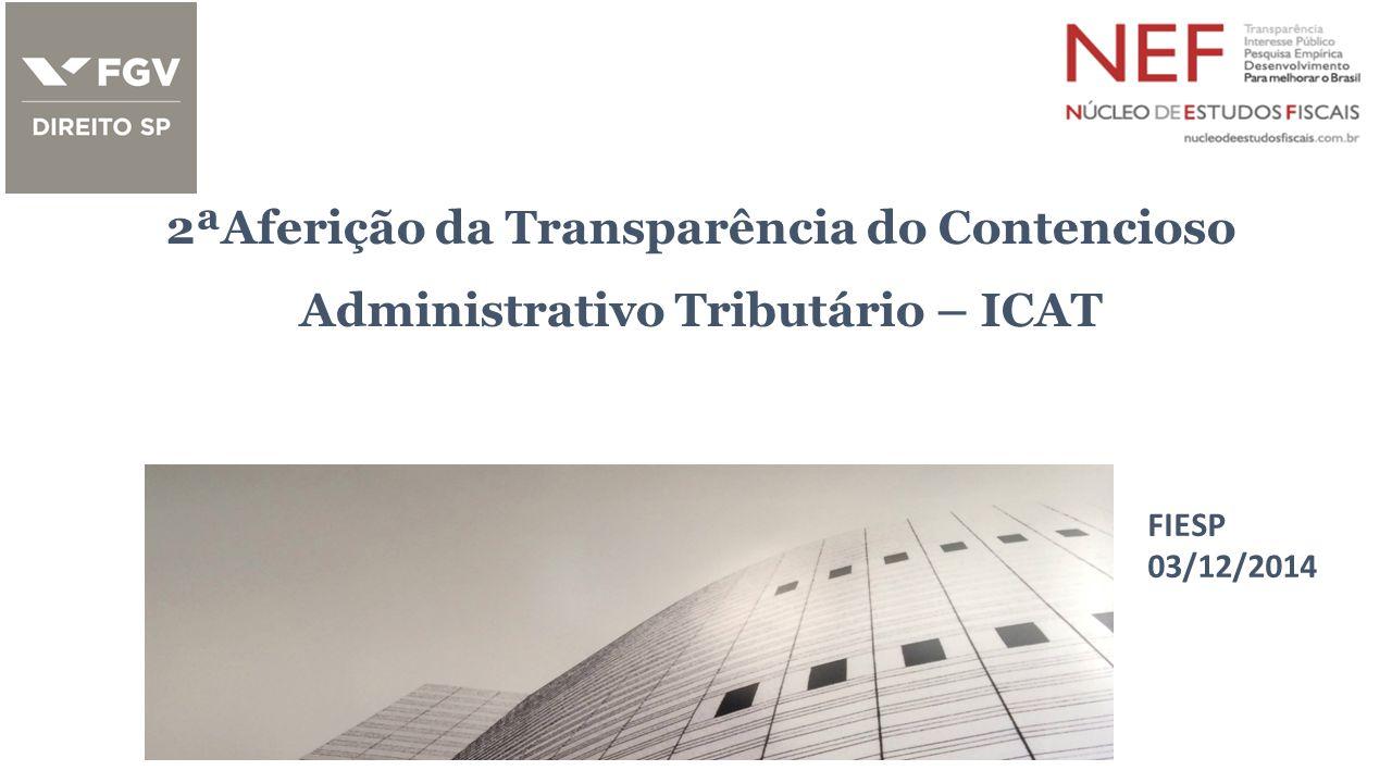 2ªAferição da Transparência do Contencioso Administrativo Tributário – ICAT FIESP 03/12/2014