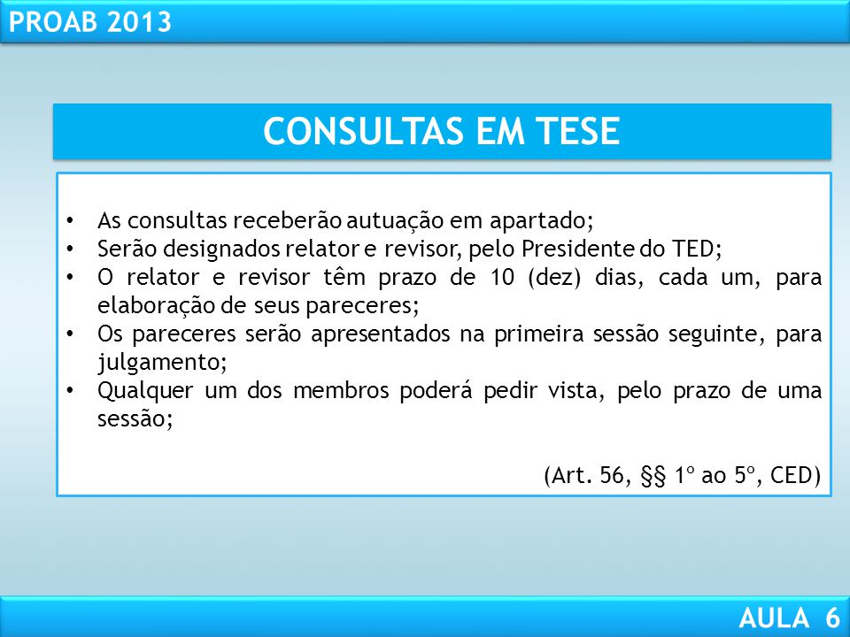 RESPONSABILIDADE CIVIL AULA 1 PROAB 2013 AULA 6 OBSERVAÇÃO!!!! O Conselho Seccional adotará as medidas necessárias para que o profissional suspenso ou
