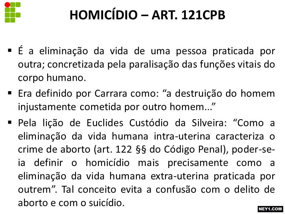 HOMICÍDIO – ART.