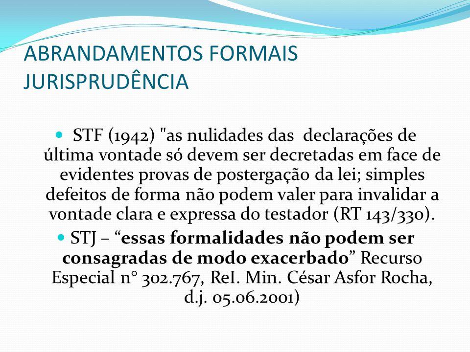 ABRANDAMENTOS FORMAIS JURISPRUDÊNCIA STF (1942)