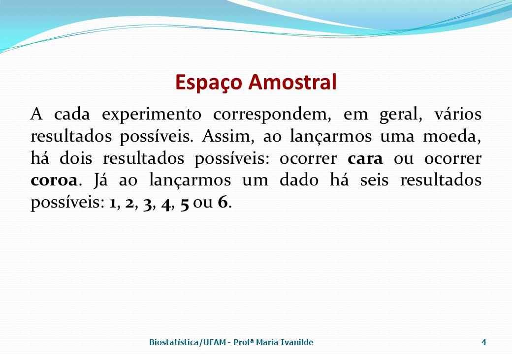 Distribuição Normal A distribuição normal é completamente determinada pelos parâmetros  e  Biostatística/UFAM - Profª Maria Ivanilde35