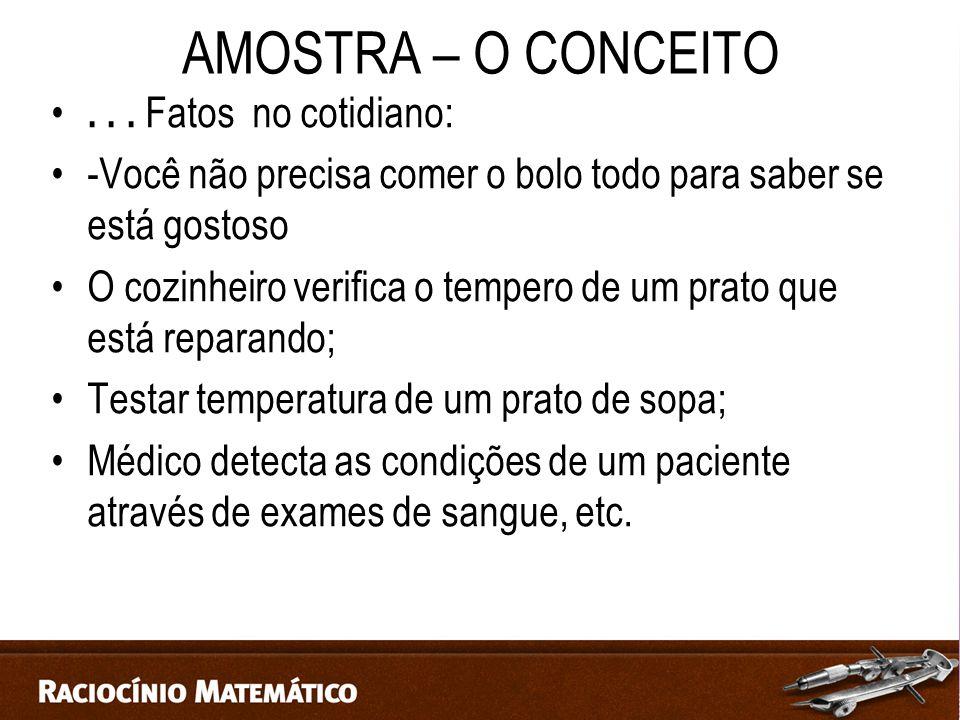 AMOSTRA – O CONCEITO...