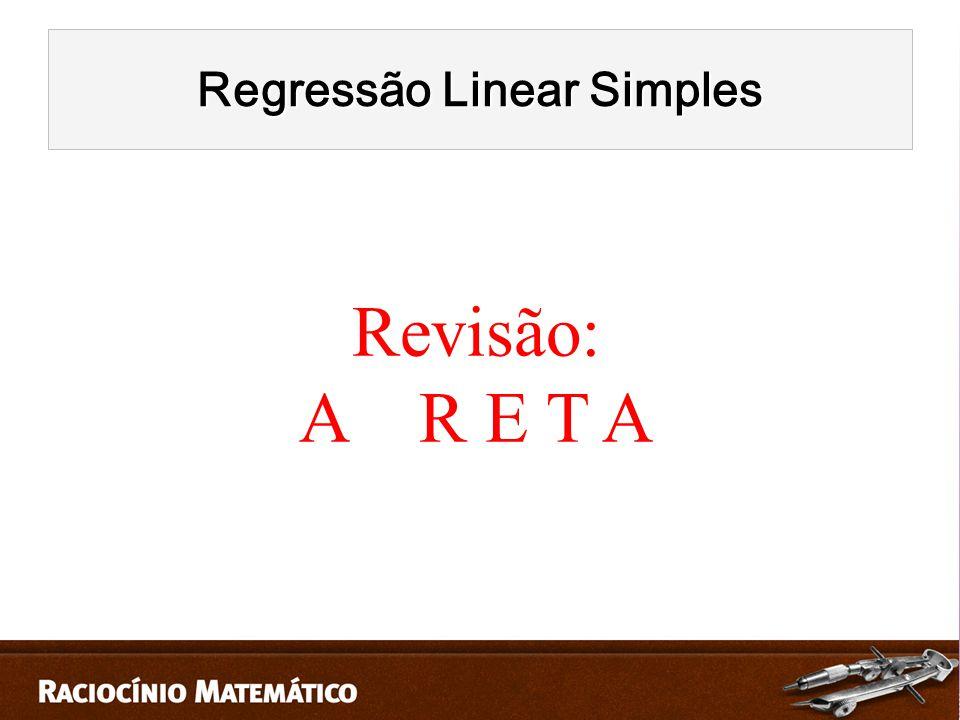 Regressão Linear Simples Revisão: A R E T A