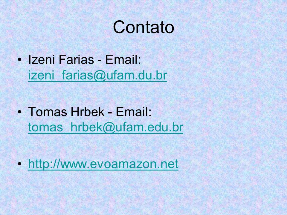 Contato Izeni Farias - Email: izeni_farias@ufam.du.br izeni_farias@ufam.du.br Tomas Hrbek - Email: tomas_hrbek@ufam.edu.br tomas_hrbek@ufam.edu.br htt
