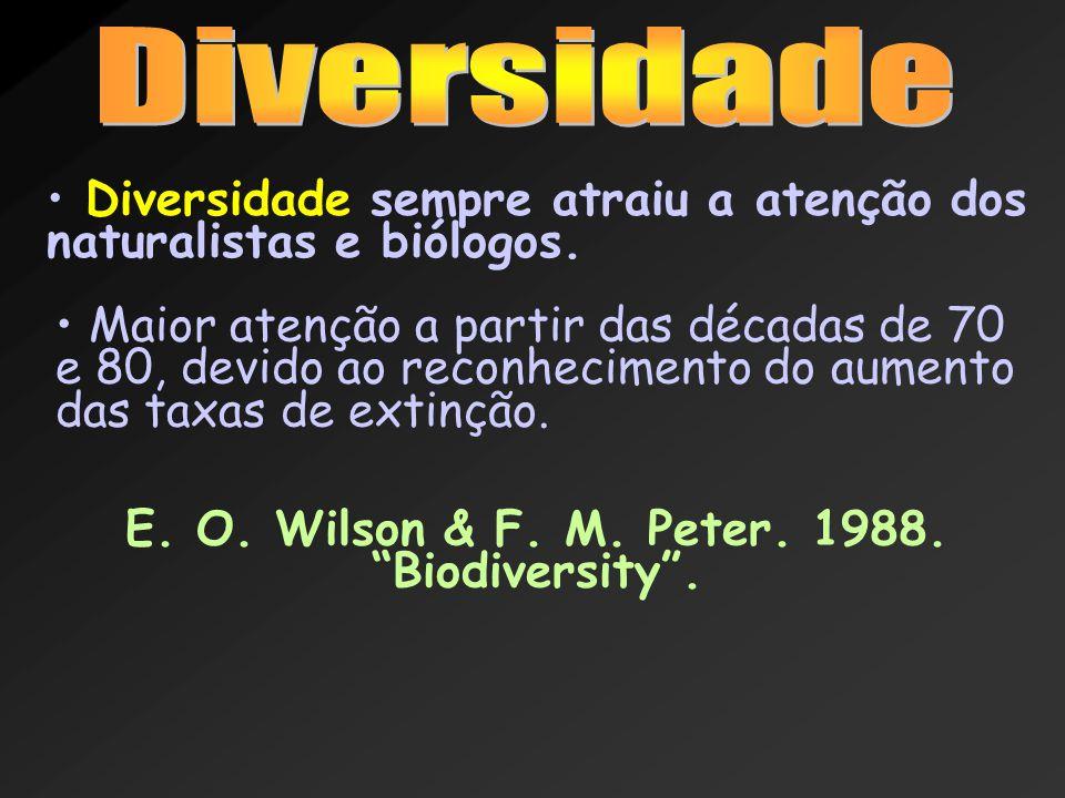 Diversidade sempre atraiu a atenção dos naturalistas e biólogos. Maior atenção a partir das décadas de 70 e 80, devido ao reconhecimento do aumento da