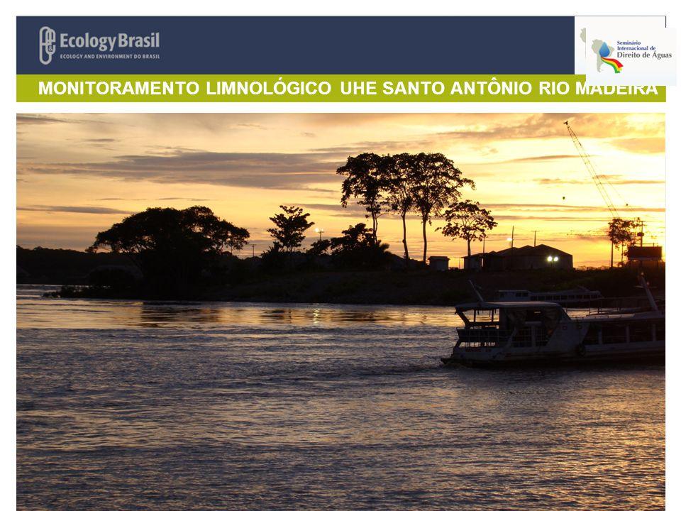 MONITORAMENTO LIMNOLÓGICO UHE SANTO ANTÔNIO RIO MADEIRA 15