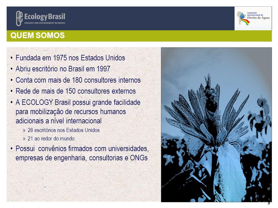 2 QUEM SOMOS Fundada em 1975 nos Estados Unidos Abriu escritório no Brasil em 1997 Conta com mais de 180 consultores internos Rede de mais de 150 cons
