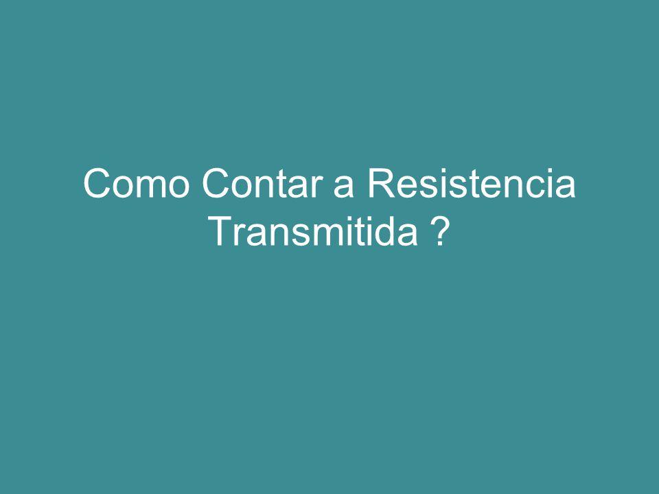 Como Contar a Resistencia Transmitida ?