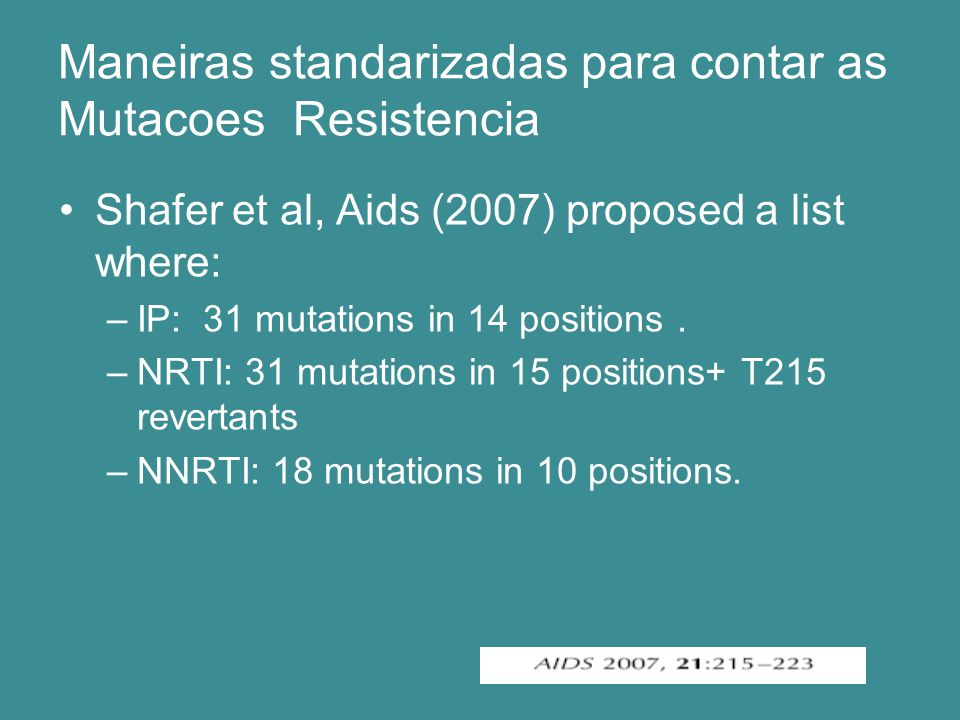 List of protease mutations important for Surveillance