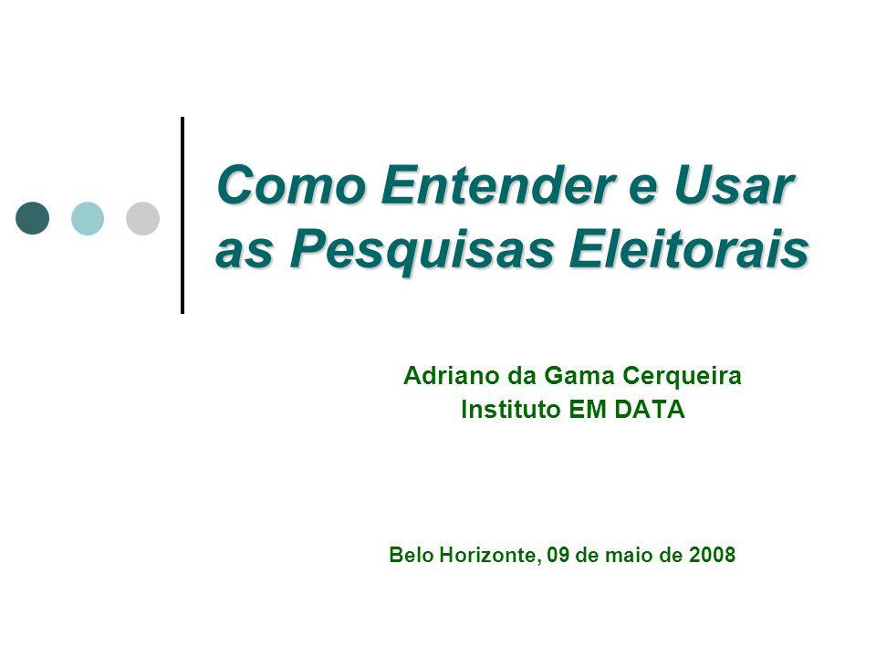 Instituto EM DATA 2 Entendendo a pesquisa eleitoral Método quantitativo Cálculo amostral Desenho amostral Inferência Construção do questionário Construção da base de dados Variáveis e índices Trabalho de campo Treinamento dos pesquisadores Supervisão do trabalho