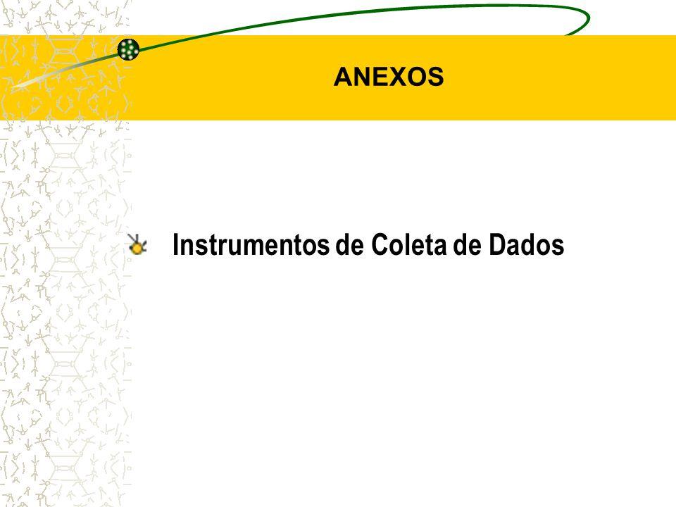 ANEXOS Instrumentos de Coleta de Dados