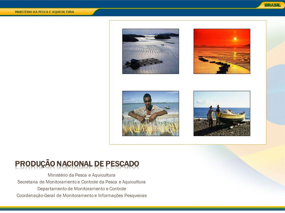 Produção Total: 177.484 t Pesca Continental: 23.276,5 t Pesca Marinha: 90.588,7 t Aquicultura Marinha: 855,5 t Aquicultura Continental: 70.915,2 t Produção de Pescado Região Sudeste
