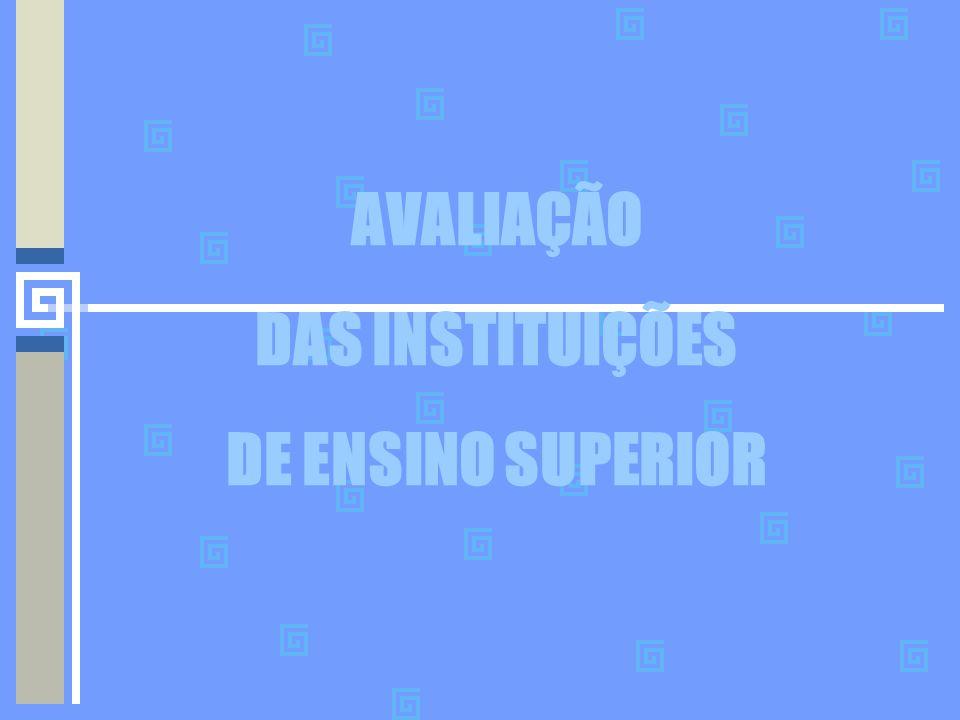 AVALIAÇÃO DAS INSTITUIÇÕES DE ENSINO SUPERIOR