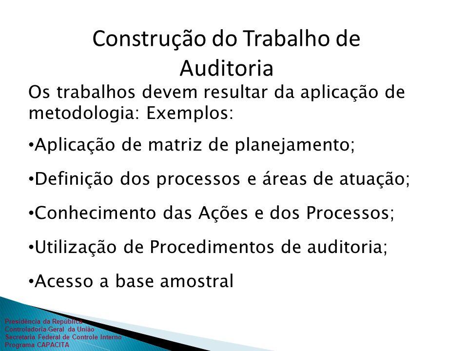 Presidência da República Controladoria-Geral da União Secretaria Federal de Controle Interno Programa CAPACITA paralisará o processo.
