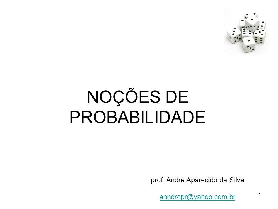 NOÇÕES DE PROBABILIDADE prof. André Aparecido da Silva anndrepr@yahoo.com.br 1