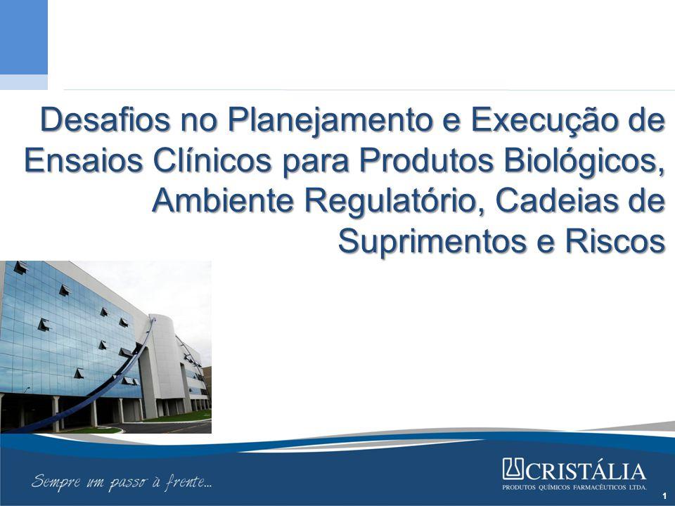 Desafios no Planejamento e Execução de Ensaios Clínicos para Produtos Biológicos, Ambiente Regulatório, Cadeias de Suprimentos e Riscos 1
