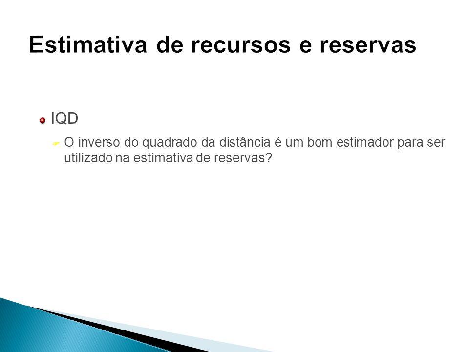 IQD F O inverso do quadrado da distância é um bom estimador para ser utilizado na estimativa de reservas?