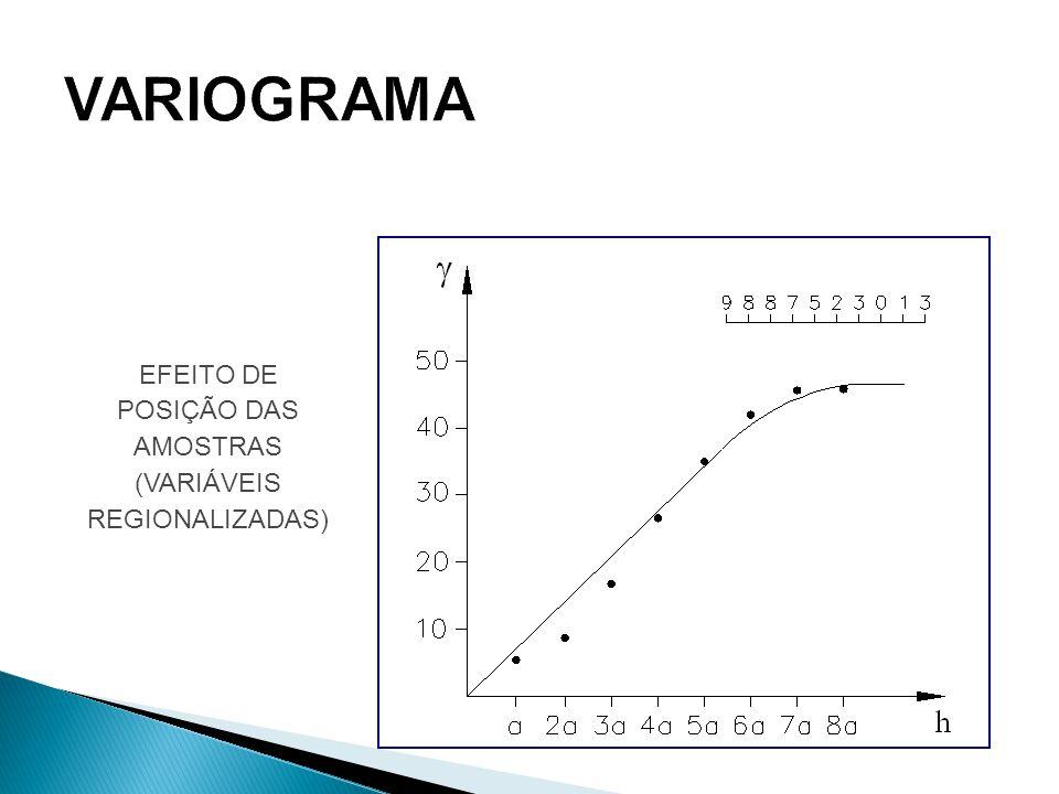 EFEITO DE POSIÇÃO DAS AMOSTRAS (VARIÁVEIS REGIONALIZADAS)