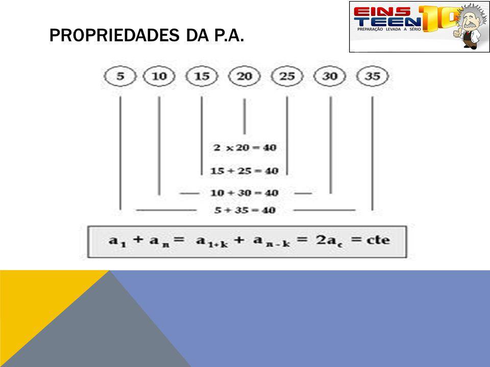 PROPRIEDADES DA P.A.