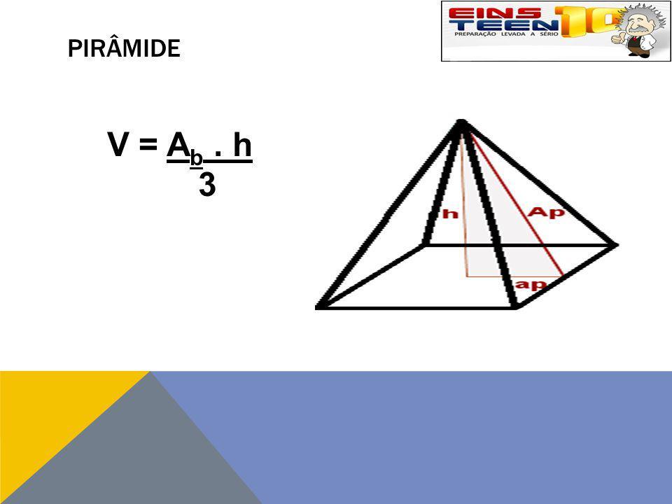 PIRÂMIDE V = A b. h 3