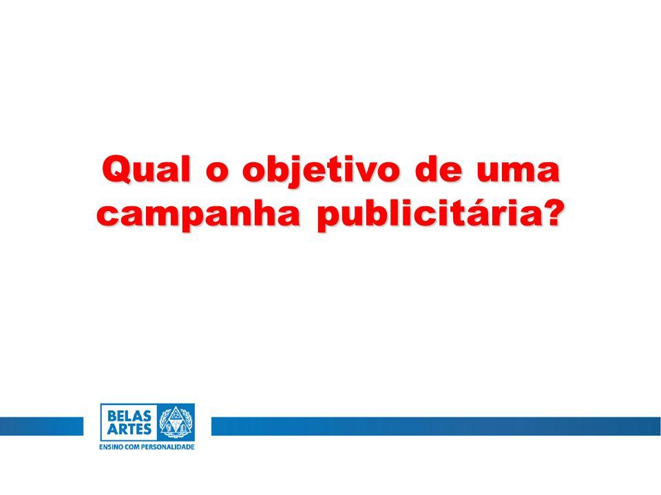 Qual o objetivo de uma campanha publicitária?
