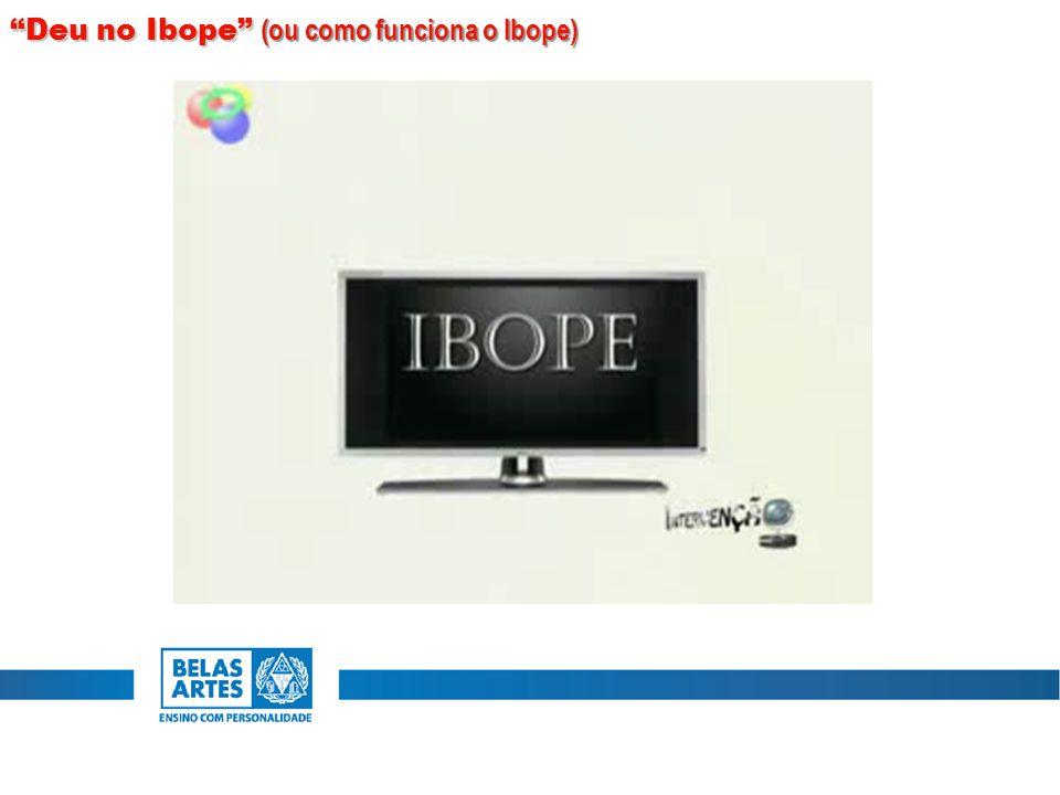 """""""Deu no Ibope"""" (ou como funciona o Ibope)"""