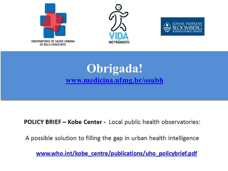 Obrigada! www.medicina.ufmg.br/osubh Obrigada! www.medicina.ufmg.br/osubh www.who.int/kobe_centre/publications/uho_policybrief.pdf POLICY BRIEF – Kobe