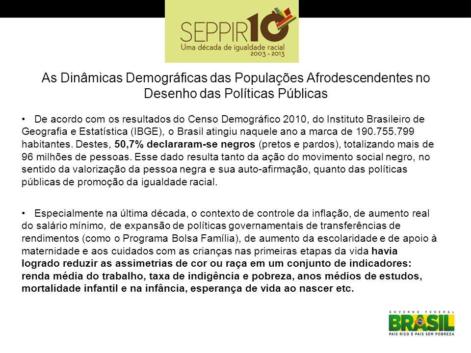 As Dinâmicas Demográficas das Populações Afrodescendentes no Desenho das Políticas Públicas De acordo com os resultados do Censo Demográfico 2010, do