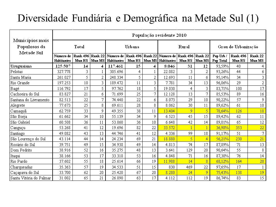 Diversidade Fundiária e Demográfica na Metade Sul (1)